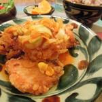 34576979 - 鶏の唐揚げネギソースがけ定食