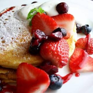 カフェタイムのパンケーキ