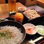 横浜更科 一休 - しらす丼セット
