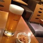 横浜更科 一休 - 生ビール