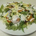 北海道場 - 北海シーザーサラダ♪野菜と新鮮魚介のサラダです♪