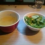 34585666 - サラダとスープ