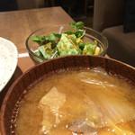 kawara CAFE&KITCHEN - 定食の豚汁。