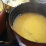 天丼たなぼ - 料理写真:残念だか白味噌