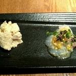 Tana-Capriccio - 前菜 真鯛カルパッチョ&ポテトサラダ♪ 美味しい!