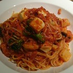 Tana-Capriccio - これは前々回頂いた分、野菜とモッツァレラのトマトソースパスタ(^^)yum!