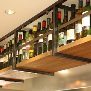 ソムリエ厳選!世界各国のワインが60種以上!