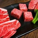 炭焼和牛 七福 - 赤身肉3種盛(その日のオススメの極上せっと)