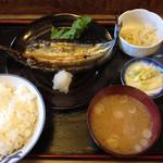 34592810 - 焼き魚定食(さんまの開き、税込650円)