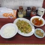 麺厨房 - 青椒肉絲定食930円