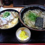 家族庵 - カツどんセット(温そば)