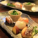 和たん酒みやび - ●前菜盛り合わせ どれもおいしかったです。 日本食ならではの前菜が大好きです。