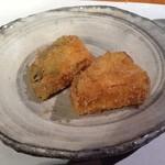 麻布六角 - 賀茂茄子のフライ