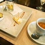 トラットリア チェーロ - パスタランチ(デザートの盛り合わせ&エスプレッソ)