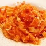 トラットリア チェーロ - パスタランチ(ベーコンとリコッタチーズのピリ辛トマトソース(手打))