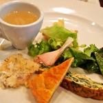 トラットリア チェーロ - パスタランチ(前菜の盛り合わせ)