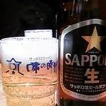 Ajinotokeidai - ビール♪水のグラス兼用でしょ