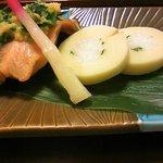 3461128 - 10年3月おもてなし懐石・鮭焼物とたけのこ寿司