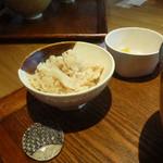 堂源 - ランチセットの味付け御飯
