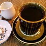 ウルクス - コーヒー 450円。カップはフィンランドのアラビア