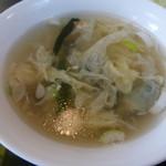 珍満賓館 - <2015/01/29>えびカレー(セットのスープ)