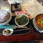 啖啖茶館 - キムチ・チゲ+ご飯/大盛り(750)