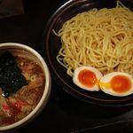 らー麺 夢あかり - つけ麺+味玉 辛くない方が好き!