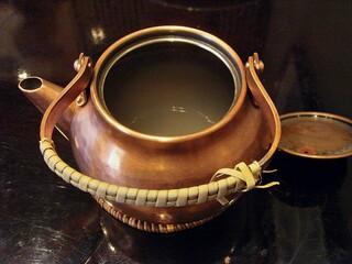 上野藪そば - 蕎麦湯ですw