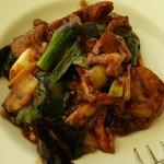 34624389 - イベリコ豚 帆立と葉玉葱の炒め物