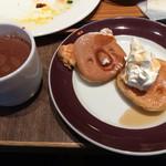 シャルロッテチョコレートファクトリー - かわいいホットケーキはトースターで温められます