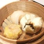 楓林 - 蒸し物:海老蒸し餃子・海老焼売・チャーシュー饅