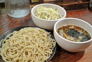 ラーメン・つけ麺笑福 米子店 - 笑福・カレーつけ麺大盛・野菜まし¥680(2015.01)