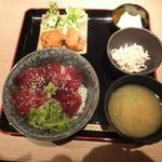 新和食 伊達 - まぐろの漬け丼定食