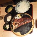 新和食 伊達 - まぐろのあご塩焼き定食