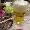 まるや商店 - 料理写真:生ビールとお通しのキャベツです。
