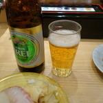 回転さかなや寿司・魚忠  - 2015.01 GYMに行く前の夕食ノンアルです(400円)