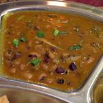 ネパールキッチン クマリ - A.日替わりセット(この日の日替わりは豆カリー、2014年12月)