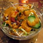 ネパールキッチン クマリ - A.日替わりセット(サラダ、2014年12月)