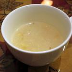 ネパールキッチン クマリ - A.日替わりセット(スープ、2014年12月)