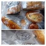 パン工場 - 適当に買ってみました。価格は外税。