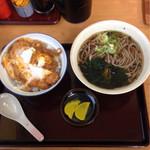 とんかつこころ - 2015.1 かつ丼セット ¥700 蕎麦orうどんの選択ができます!