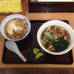 とんかつこころ - 2015.1 親子丼セット ¥560 うどんor蕎麦が選択できます!