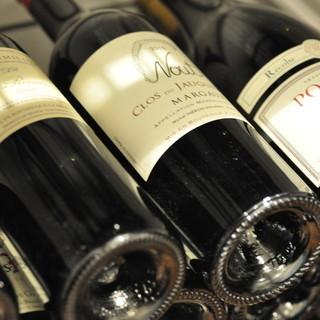 お食事とのマリアージュをお愉しみいただけるワインもぜひ。