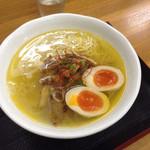 魔界ラーメン 月光 - 煮卵鶏塩中華そば       780円