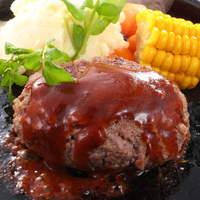 moby - moby自慢のビーフ100%ハンバーグ まるでステーキのようなハンバーグ お肉の美味しさをとことんご堪能ください