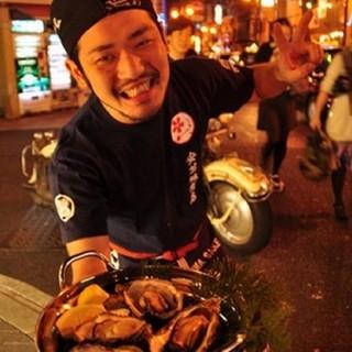 お店のスタッフは広島出身で元気に営業中!