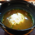 花千里 - スープにご飯を入れて食べると美味しい!