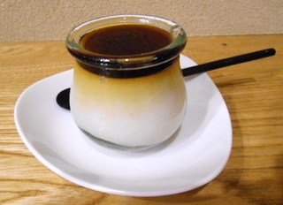 そば舎・中中 - デザート そば茶プリン
