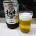 天末食堂 - 2015.01 この後は東京に移動するだけだったのでビール逝っちゃいました:笑