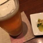 酒肴家 - エビス生ビール大グラス(250cc)